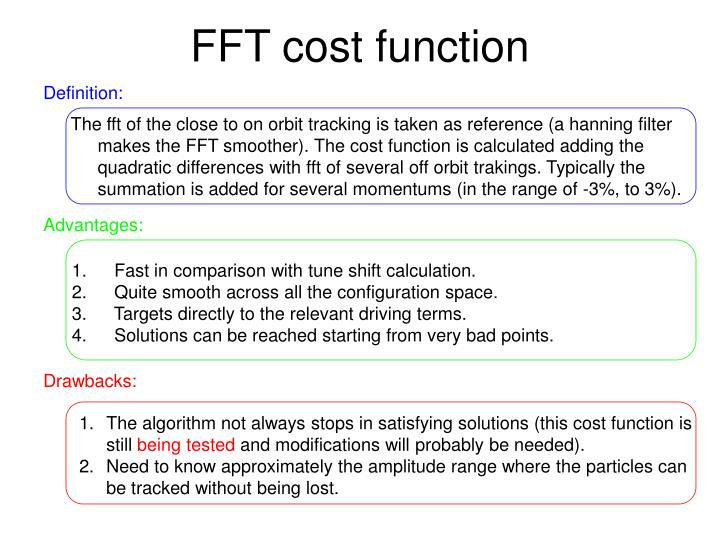 FFT cost function