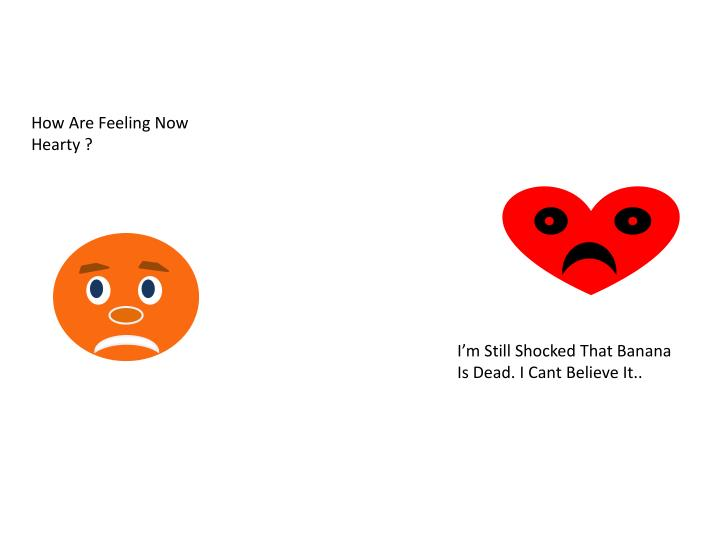 How Are Feeling Now Hearty ?