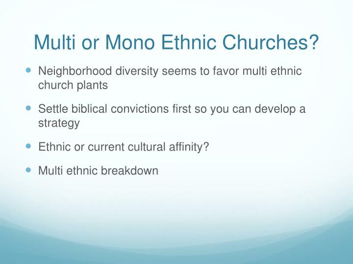 Multi or Mono Ethnic Churches?