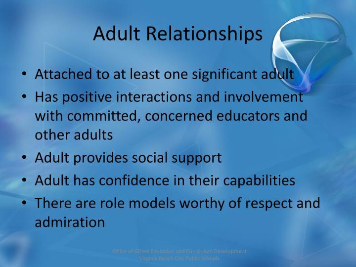 Adult Relationships