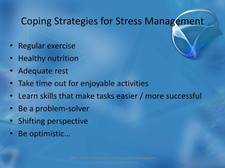 Coping Strategies for Stress Management