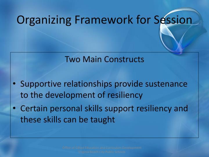 Organizing Framework for Session