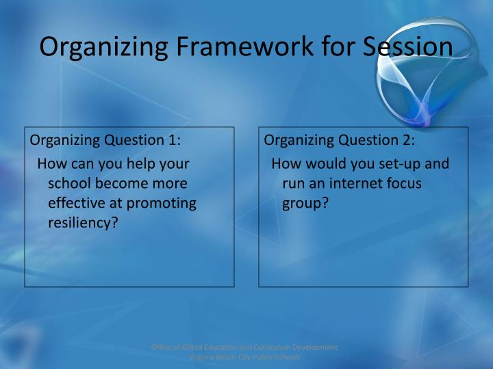 Organizing Question 1: