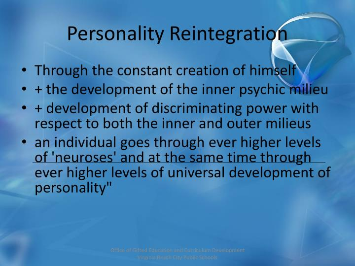 Personality Reintegration