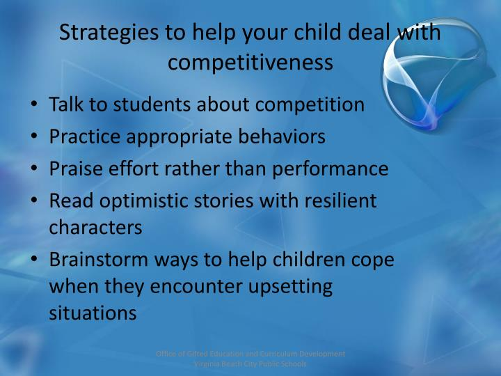 Strategies to help your child deal with competitiveness