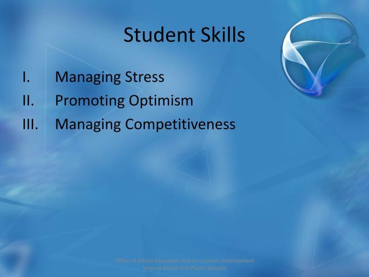 Student Skills