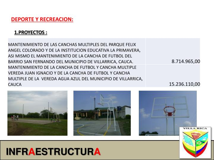 DEPORTE Y RECREACION: