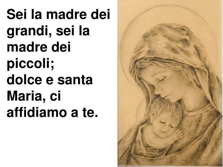 Sei la madre dei grandi, sei la madre dei piccoli;
