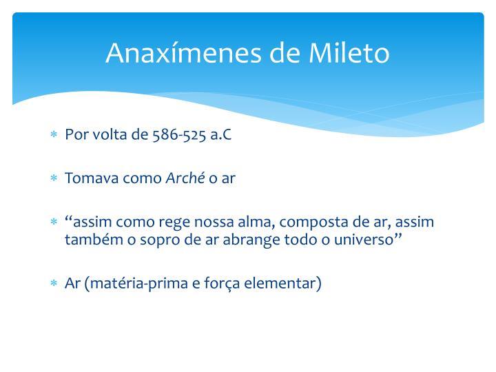 Anaxímenes de Mileto