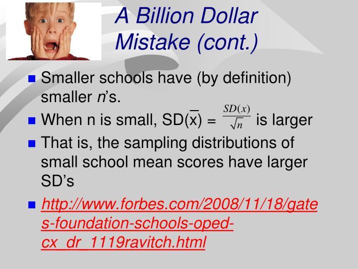 A Billion Dollar