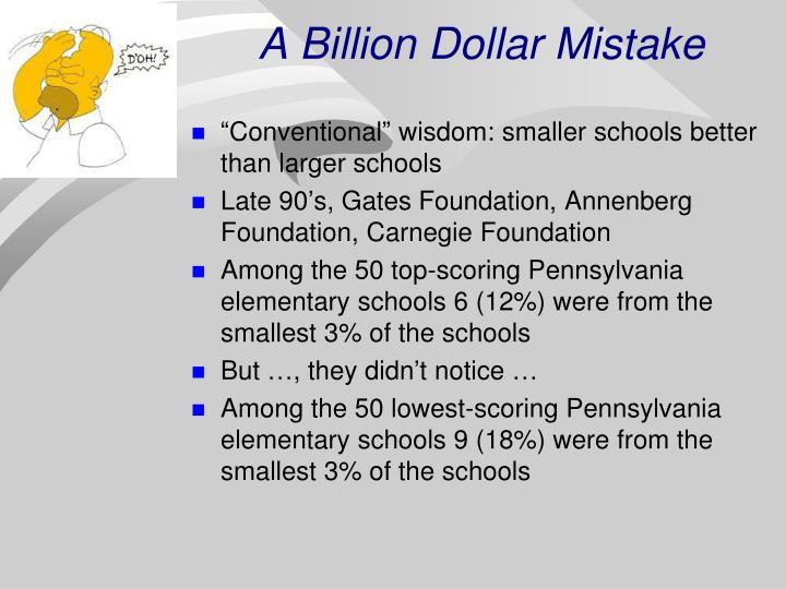 A Billion Dollar Mistake