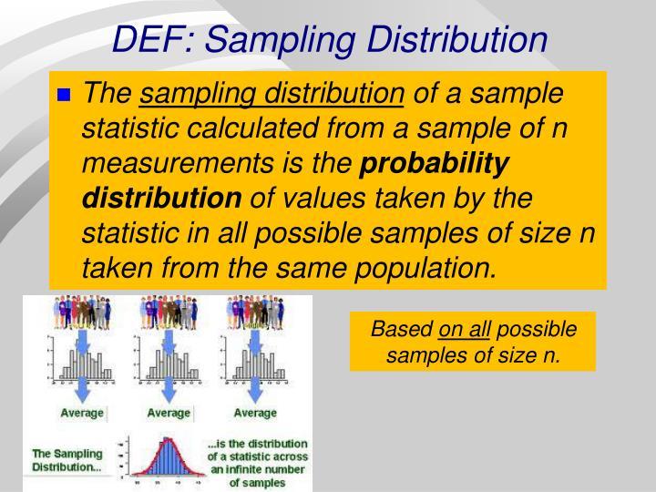 DEF: Sampling Distribution