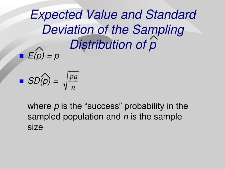 Expected Value and Standard Deviation of the Sampling Distribution of p