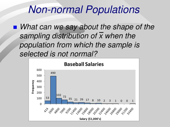 Non-normal Populations