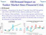 oil demand impact on tanker market since financial crisis1