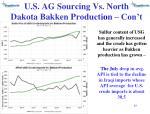 u s ag sourcing vs north dakota bakken producti o n con t
