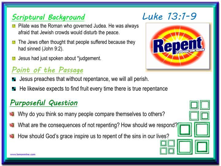 Luke 13:1-9
