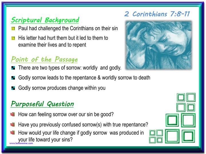 2 Corinthians 7:8-11