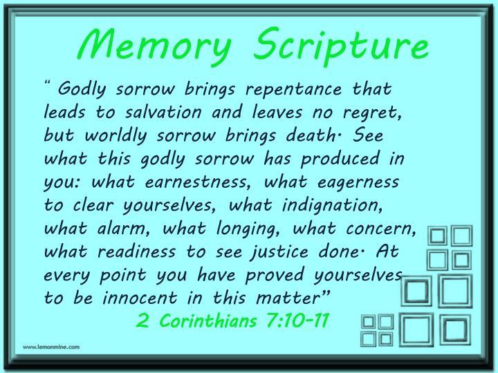Memory Scripture