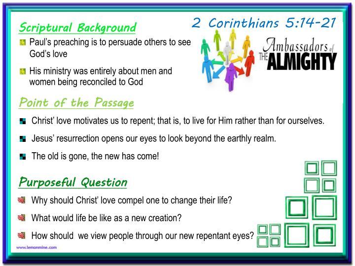 2 Corinthians 5:14-21