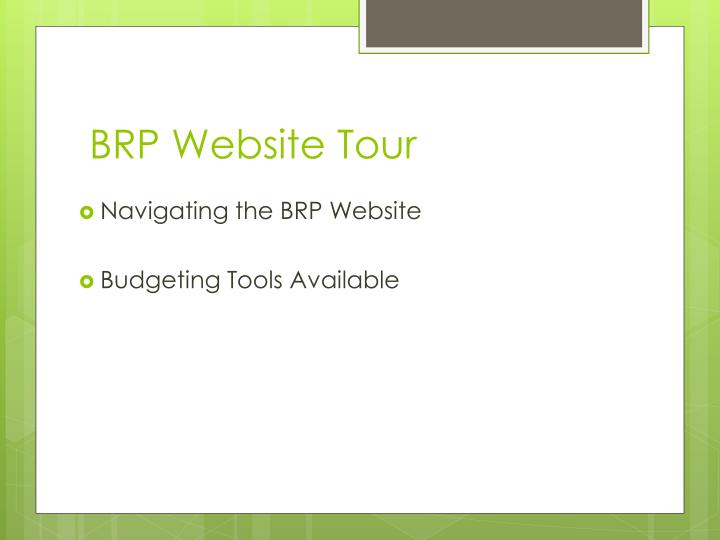 BRP Website Tour