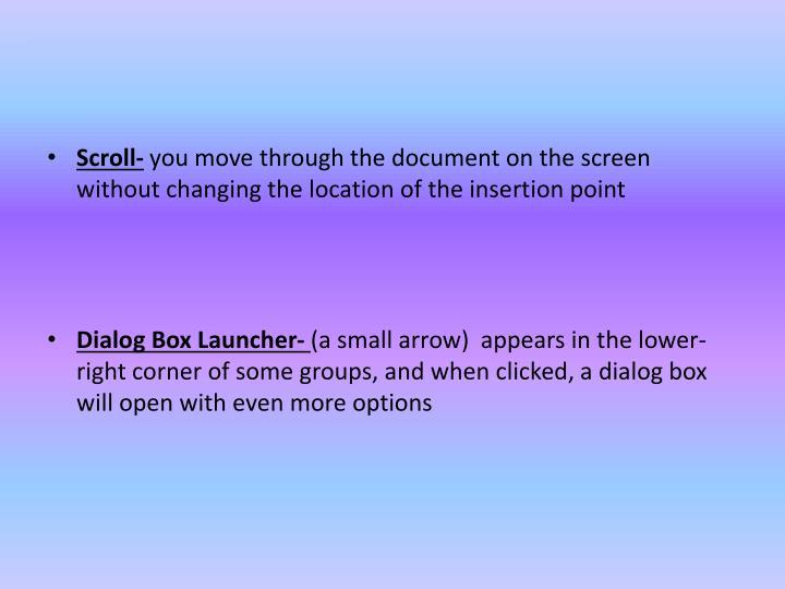 Scroll-