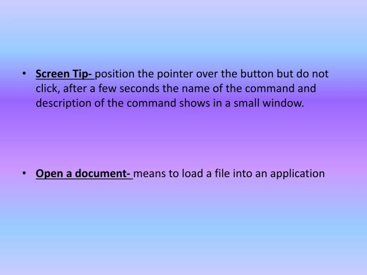 Screen Tip-