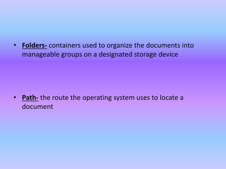 Folders-