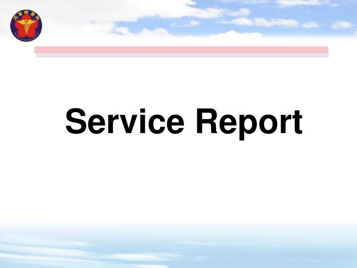 Service Report