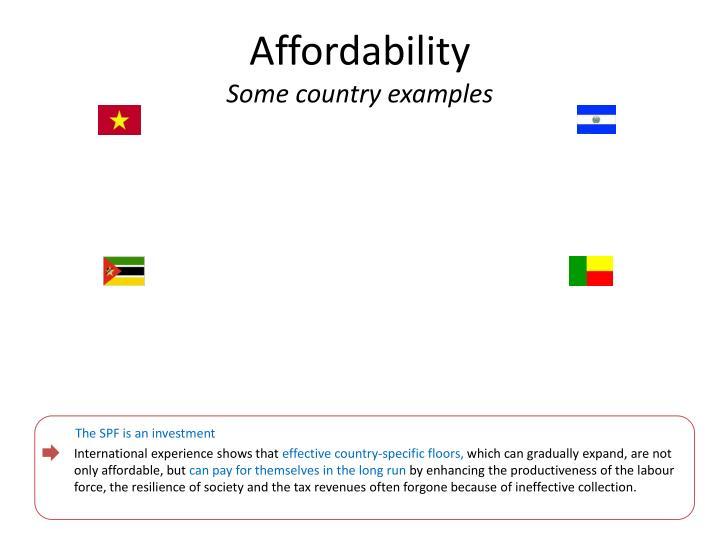Affordability