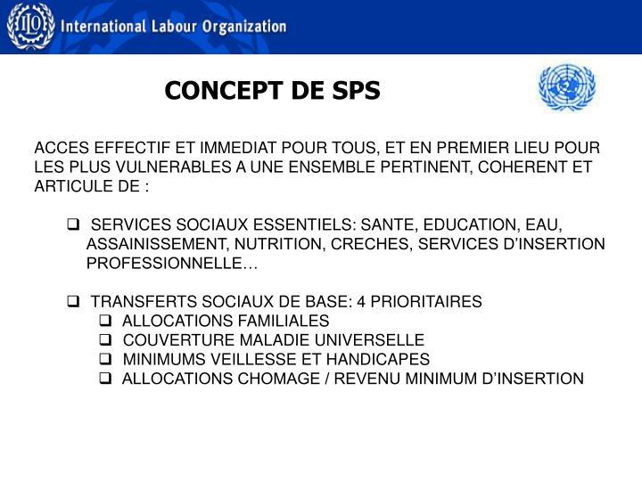 CONCEPT DE SPS