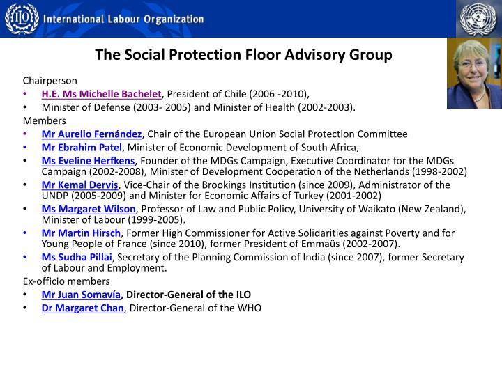 The Social Protection Floor Advisory Group