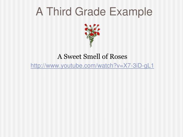 A Third Grade Example
