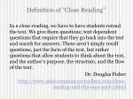 definition of close reading2