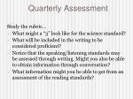 quarterly assessment1