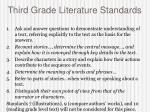 third grade literature standards