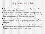 using the writing rubric1