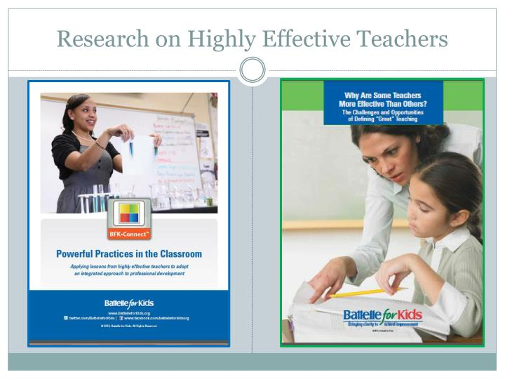 Research on Highly Effective Teachers