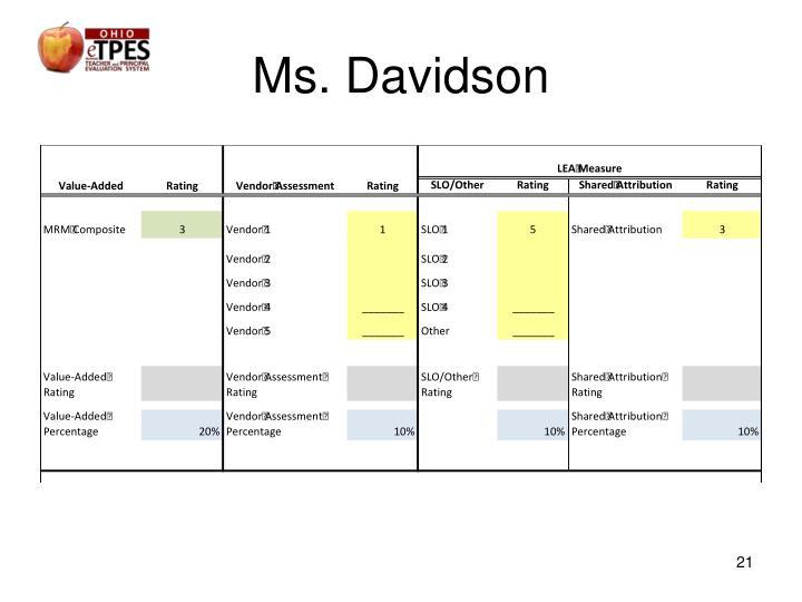 Ms. Davidson