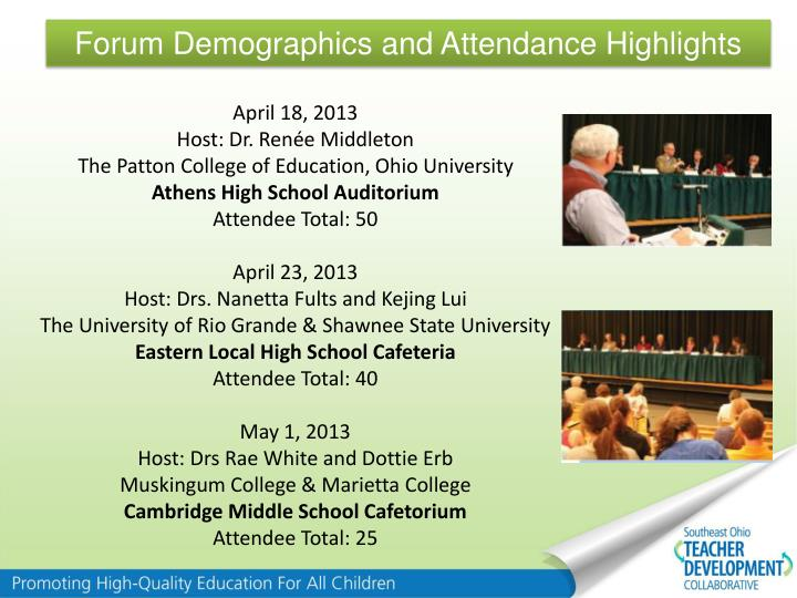 Forum Demographics and Attendance Highlights