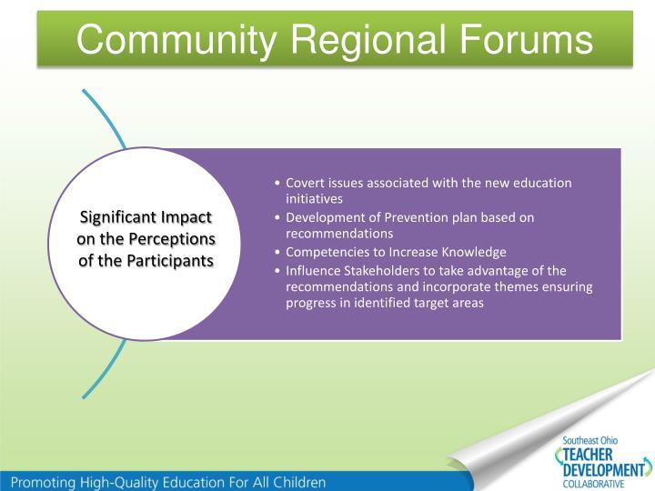 Community Regional Forums