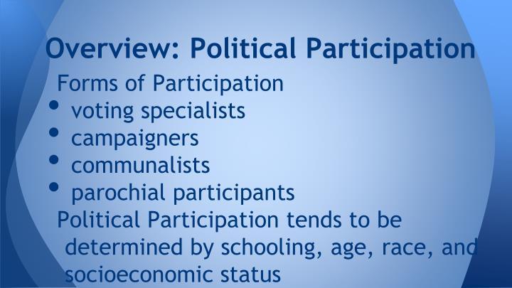 Overview: Political Participation