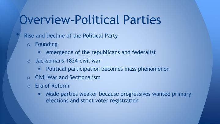 Overview-Political Parties