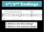 1 st 2 nd endings1