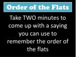 order of the flats1