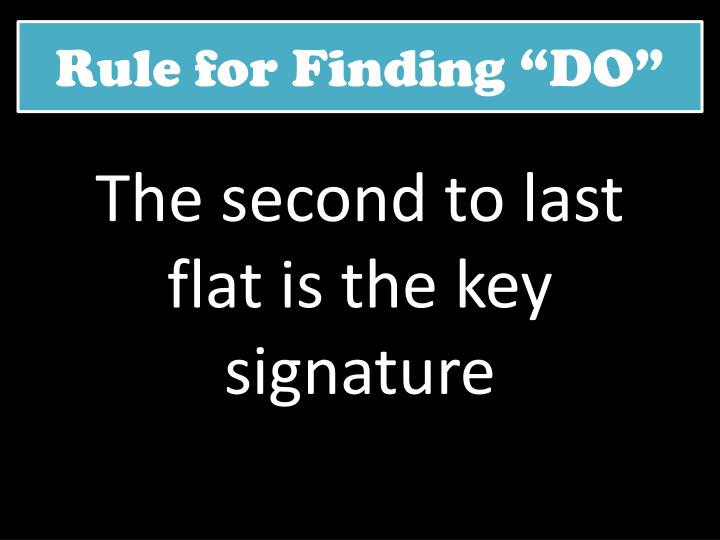"""Rule for Finding """"DO"""""""