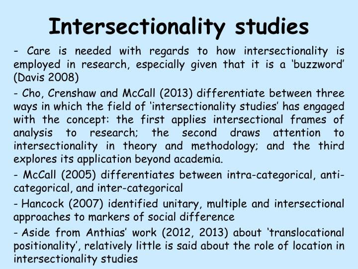 Intersectionality studies