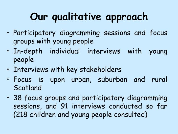 Our qualitative approach