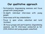 our qualitative approach
