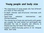young people and body size